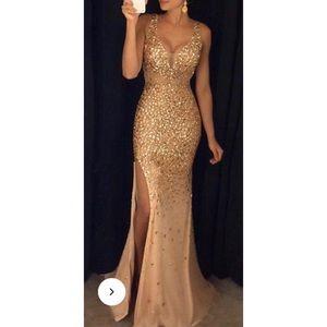 V-Neck Sleeveless Paillette Dress